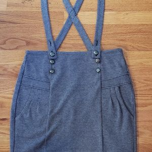 ORSAY Skirts - ORSAY checked mini Skirt w suspenders M